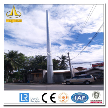 12m 1250dan 20kn Galvanized Electric Power Pole